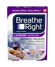 Breathe Right® Lavender Scented Nasal Strips 10 ct Box
