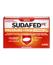 Sudafed PE® Pressure+Pain+Cough for Adults 24 ct. Box