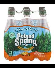 Poland Spring Sparkling Spring Water Mandarin Orange Essence ...