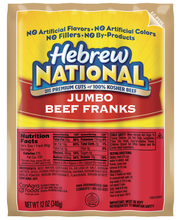 Hebrew National Jumbo Beef 4 Ct Franks 12 Oz Pack