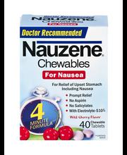 Nauzene Chewables Tablets For Nausea - 40 CT