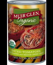 Muir Glen™ Organic Diced Fire Roasted Tomatoes with Medium Gr...