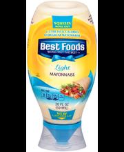 Best Foods® Light Mayonnaise 20 fl. oz. Squeeze Bottle