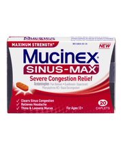 Mucinex® Sinus-Max™ Maximum Strength Severe Congestion Relief...