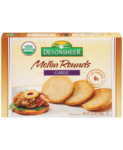 Devonsheer® Melba Rounds Garlic 5.25 oz. Box
