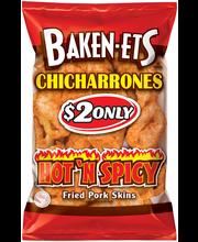 Baken-Ets® Hot 'N Spicy Fried Pork Skins $2 Prepriced 3.25 oz...