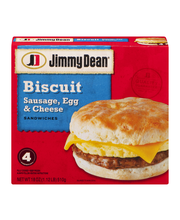 Jimmy Dean® Sausage, Egg & Cheese Biscuit Sandwiches 18 oz. Box
