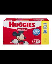 Huggies® Snug & Dry* Size 5 Diapers 136 ct Box