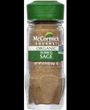 McCormick Gourmet™ Organic Rubbed Sage 0.75 oz. Bottle
