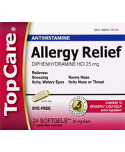 TOPCARE ALLERGY RELIEF SFTGL
