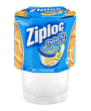 Ziploc® Twist n Loc® Medium Round Containers & Lids 2 ct Sleeve
