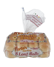Martin's Potato Rolls Long - 8 CT
