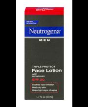 Neutrogena® Triple Protect Face Lotion Spf20 Men 1.7 Fl Oz Box