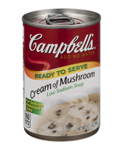 Campbell's® Ready to Serve Low Sodium Cream of Mushroom Soup,...