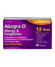 Allegra-D Allergy & Congestion Non-Drowsy Original Prescripti...