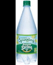 POLAND SPRING Sparkling Natural Spring Water Lime 1L Bottle