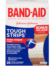 Band-Aid® Brand Tough Strips® All One Size Adhesive Bandages ...