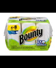 Bounty Select-A-Size Paper Towels, White, 6 Big Rolls = 8 Reg...