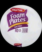 VALU TIME FOAM PLATES 8.875