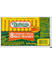 Nathan's® Cheddar Cheese Beef Franks 12 oz. Pack