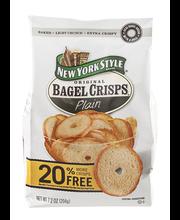 New York Style™ Plain Bagel Crisps® 7.2 oz. Bag