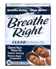 Breathe Right® Clear Small/Medium Nasal Strips 30 ct Box