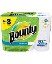 Bounty Select-A-Size Paper Towels, White, 6 Big Rolls = 8 Reg...