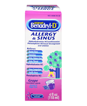 Children's Benadryl® Allergy Plus Congestion Grape Flavored L...