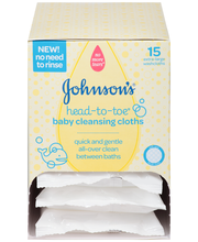 Johnson's® Head-to-Toe® Baby Cleaning Cloths 6 ct. Box