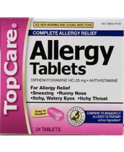 TOPCARE ALLERGY RELIEF TABS