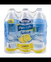 NESTLE SPLASH Water Beverages with Natural Fruit Flavors, Lem...
