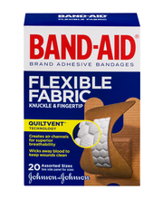 Band-Aid® Flexible Fabric Knuckle & Fingertip Assorted 20 ct