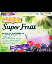 Emergen-C® Super Fruit Dietary Supplement in Triple Berry Bla...