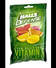 Halls Defense Assorted Citrus Vitamin C Supplement Drops 30 c...