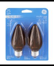 GE Amber Multi-Use 25 Watt Blunt Tip Light Bulb