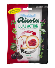 Ricola Dual Action Swiss Cherry Cough Suppressant Oral Anesth...