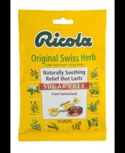 Ricola Sugar Free Original Swiss Herb Cough Suppressant Throa...