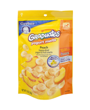 Gerber® Graduates® Peach Yogurt Melts® Freeze-Dried Yogurt & ...