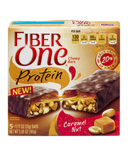 Fiber One Protein Chewy Bars Caramel Nut - 5 CT