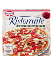 Dr. Oetker Ristorante Thin Crust Pizza Pepperoni Pesto
