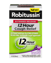 Robitussin® Extended-Release 12 Hour Cough Relief Cough Suppr...