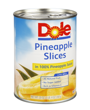 Dole® Pineapple Slices in 100% Pineapple Juice 20 oz. Can