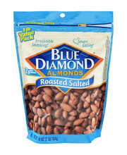 Blue Diamond Roasted Salted Value Pk Almonds 16 Oz Stand Up Bag