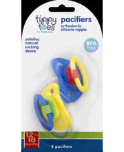 TIPPY TOES PACIFIERS 12-18 MONTH
