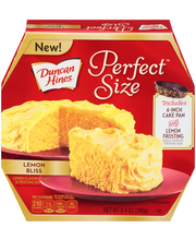 Duncan Hines® Perfect Size™ Lemon Bliss Cake Mix &  Frosting ...