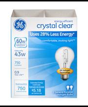 General Electric Crystal Clear Bulb 43w - 2 CT