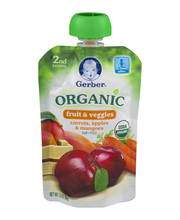 Gerber Organic 2nd Foods Carrots, Apples & Mangoes Baby Food ...