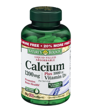 Nature's Bounty Liquid Filled Absorbable Calcium Softgels 120...