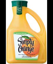 Simply Orange® High Pulp Orange Juice 2.63L Plastic Jug