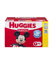 Huggies® Snug & Dry* Size 4 Diapers 156 ct Box